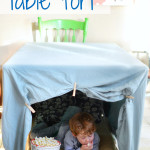 DIY One Sheet Table Fort