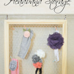 Shabby Chic Headband Storage