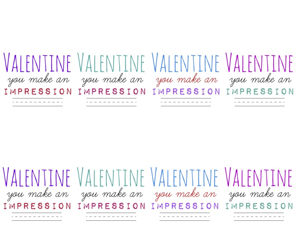 FREE Printable: Make an Impression Stamp Valentine