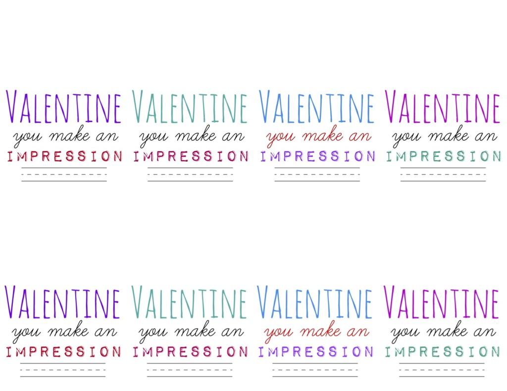 FREE Printable: Make an Impression Stamp Valentine