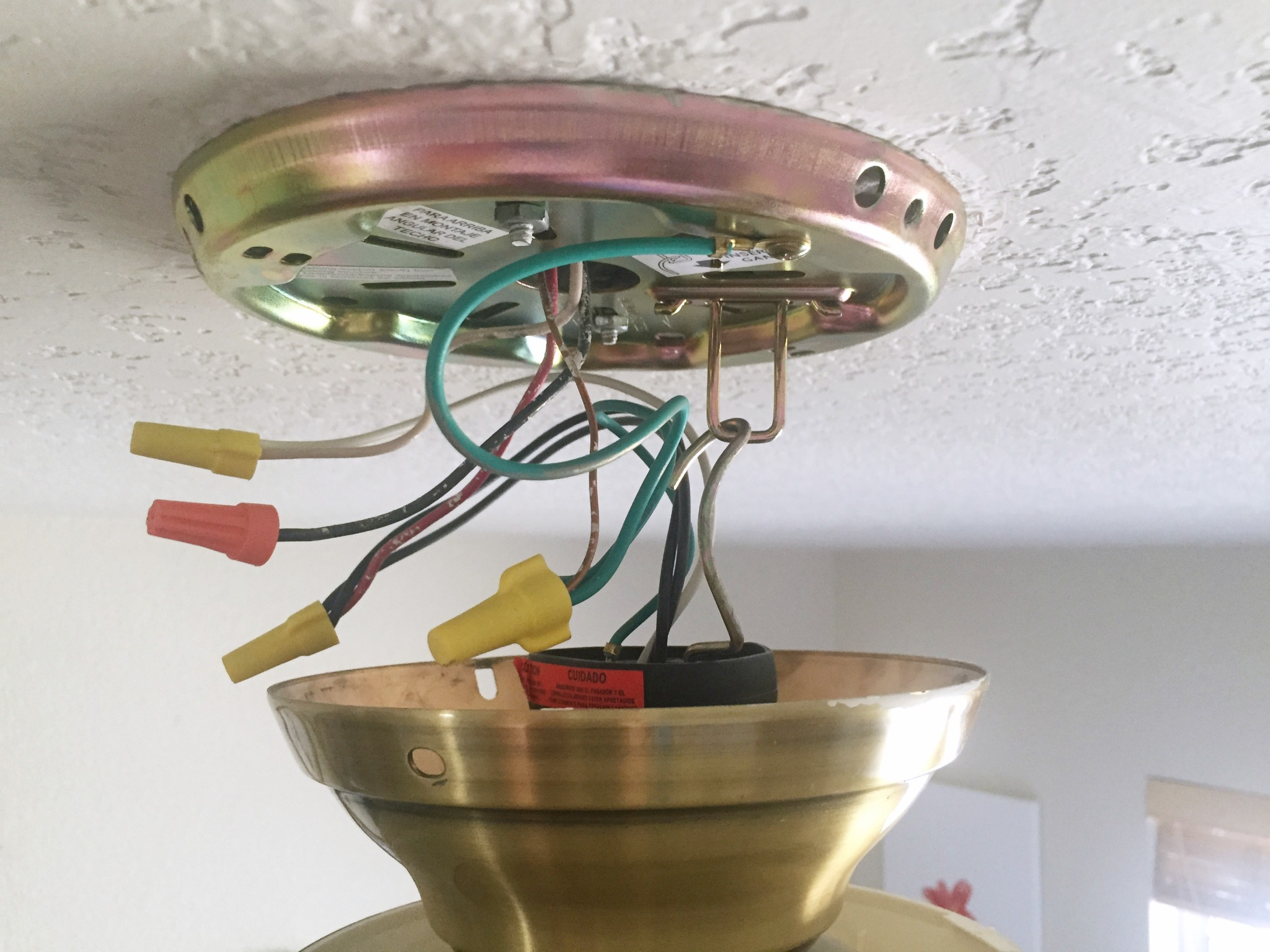 Easy Home Facelifts Lighting Eclectic Momsense Old House Wiring To New Check Your And Connections Switch The Power Back On For A Test Run Turn It Off Before Mounting Attaching Fixtures