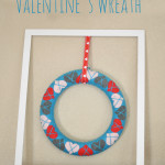 Easy Framed Valentine's Day Wreath