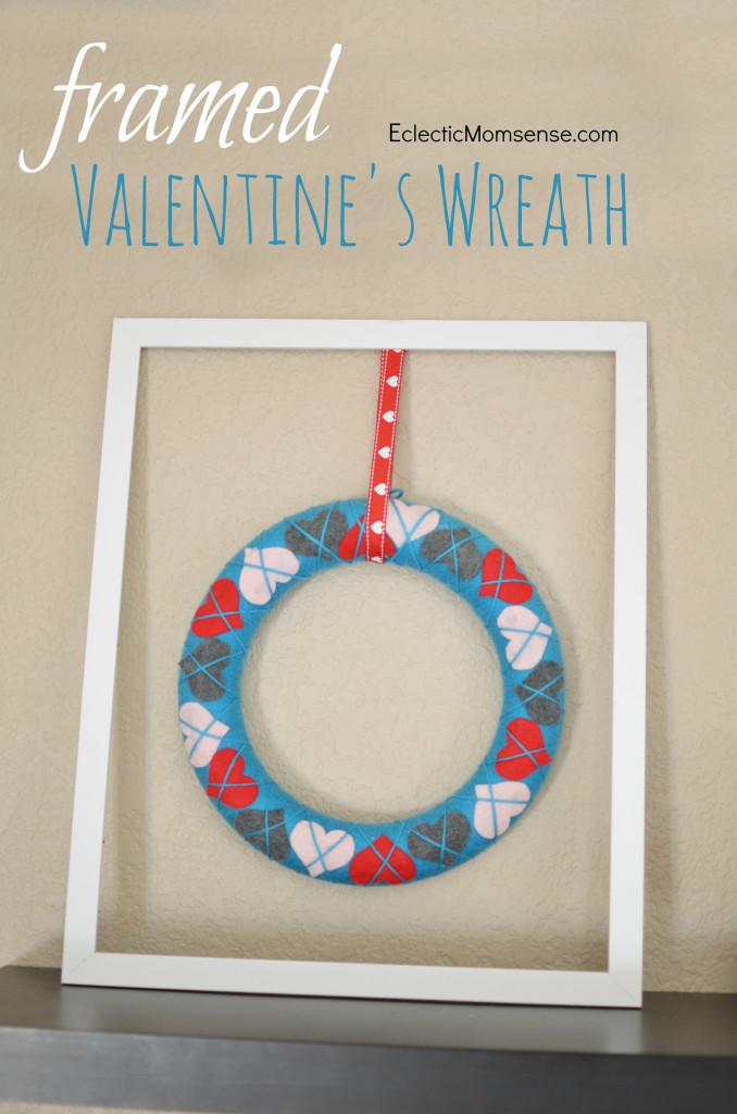 Framed Valentines Day Wreath