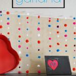Easy Valentine's Pom Pom Garland