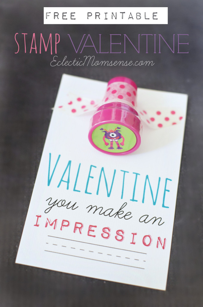 FREE Printable: Make an Impression Stamp Valentine #ad