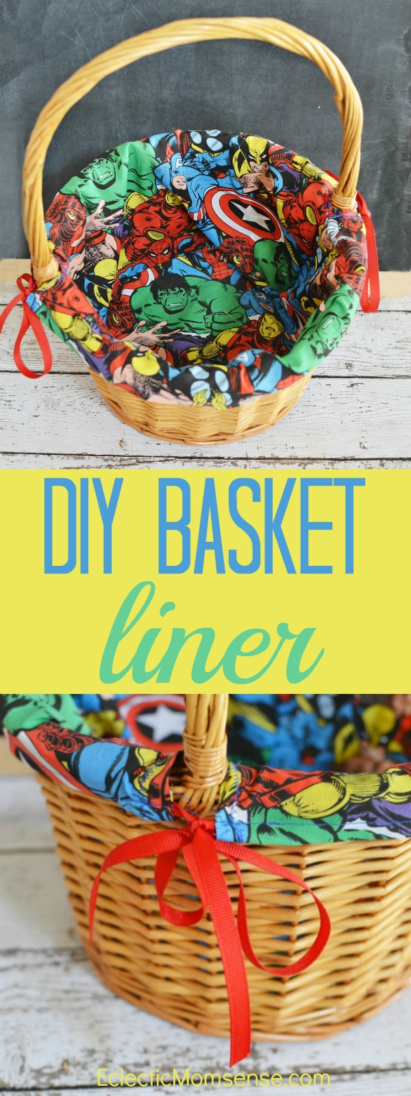 DIY Easter Basket Liner Tutorial | Customize any basket with your favorite fabric. #craft #DIY #Easter