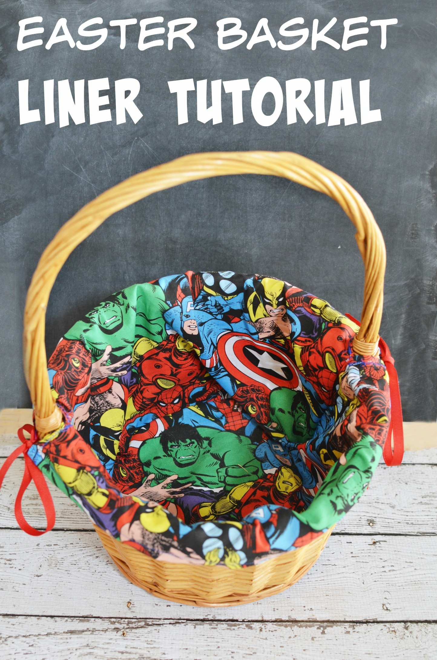 Diy marvel easter basket liner tutorial eclectic momsense diy marvel easter basket liner tutorial negle Image collections
