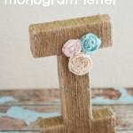 Jute Monogram Letter
