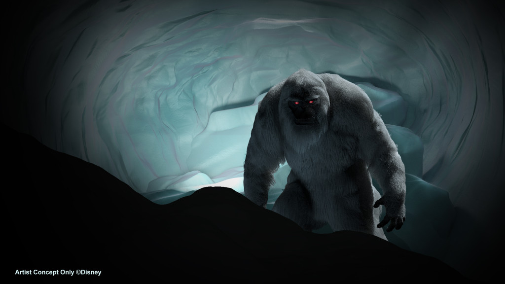 Abominable Snowman as he will appear when the Matterhorn Bobsleds reopen in May 2015. The classic Disneyland park attraction will also feature new special effects to enhance the attraction experience. #Disneyland60