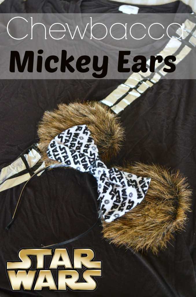Chewbacca Mickey Ears- Links included for the shirt directions and Star Wars Run Disney Costume ideas. rebels, droids, and Imperial forces. | #StarWars #Disney #RunDisney