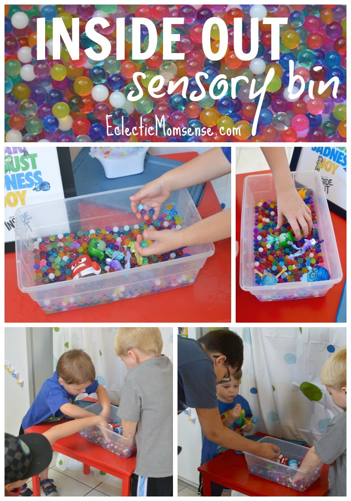 Memory Sensory Bin | Inside Out Water Bead Sensory Play #InsideOutEmotions ad