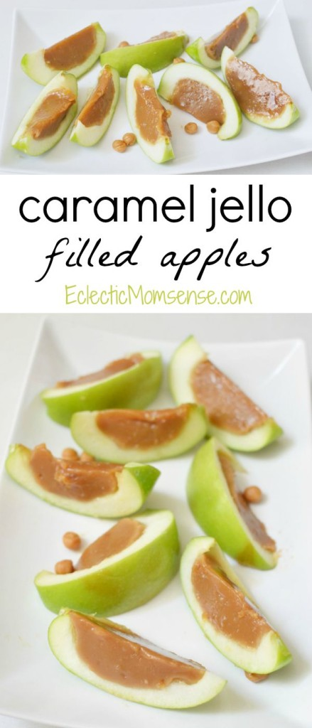 Caramel Jello filled Apples inspired by #Disney Descendants