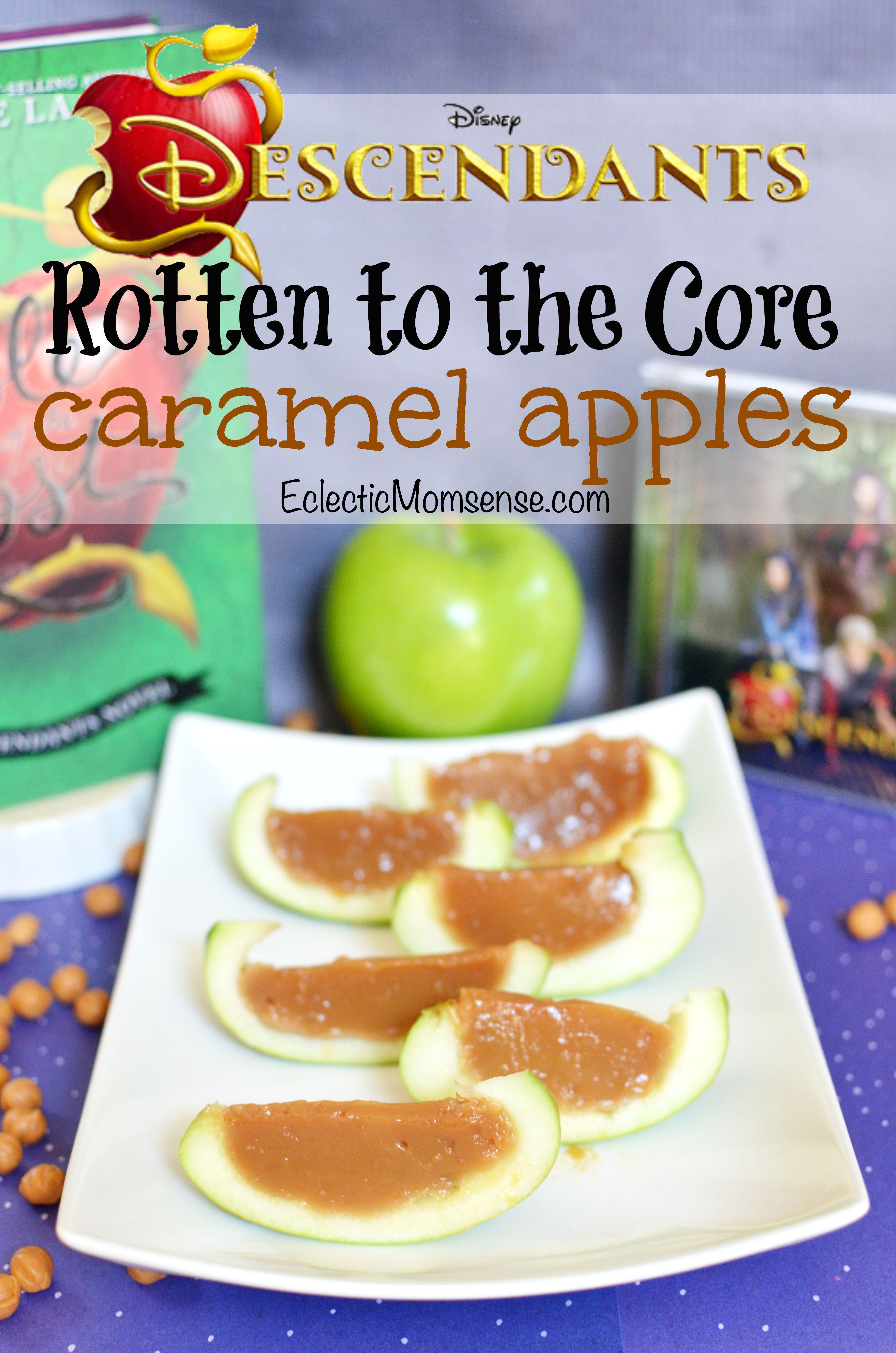 Disney Descendants Rotten To The Core Jello Caramel Apples