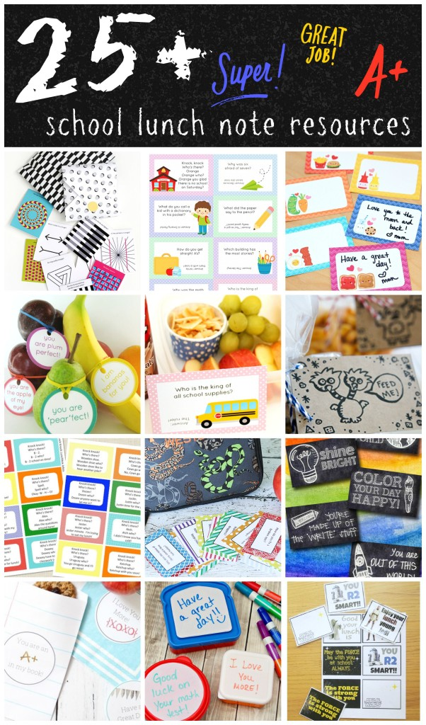 25+ School Lunch Note Resources