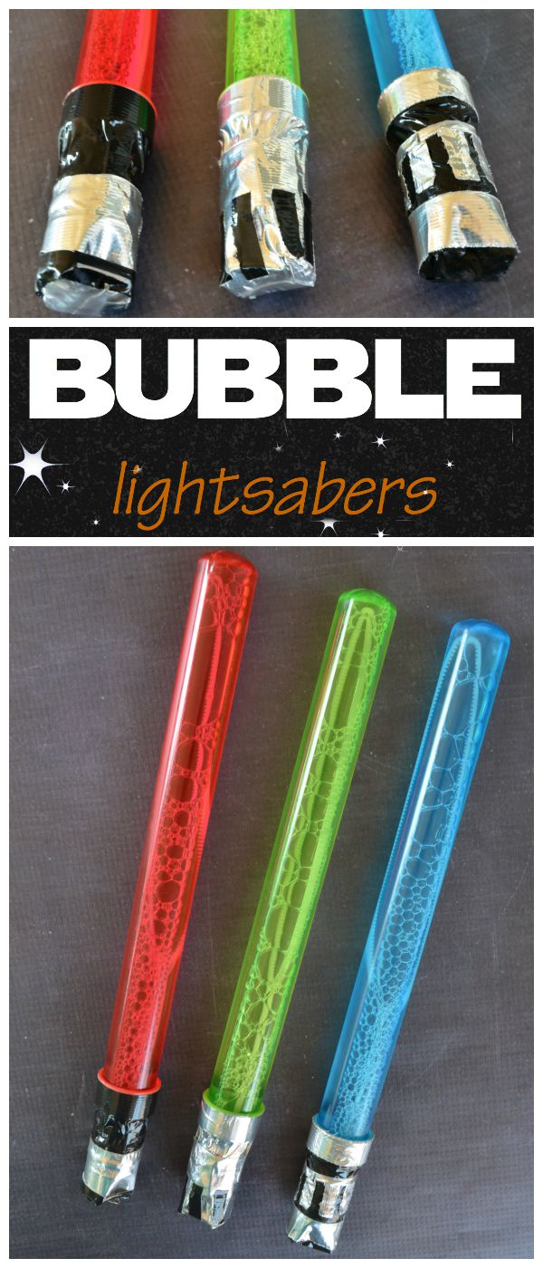 Lightsaber Bubbles: Star Wars Party Favor #ForceFriday