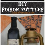 DIY Poison Bottles + Easy Halloween Mantle