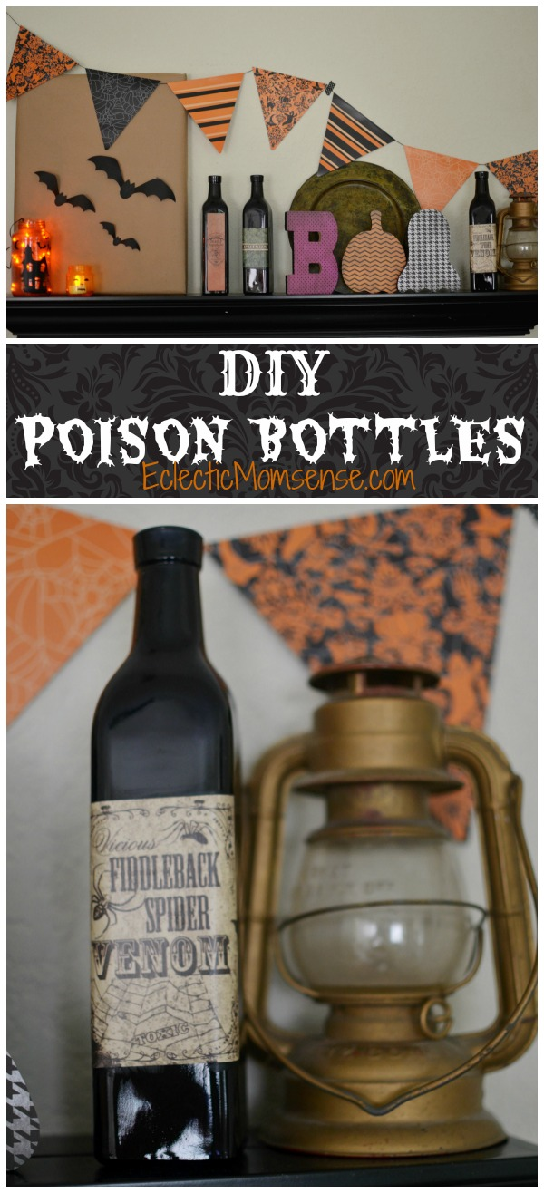 Popular DIY Poison Bottles + Easy Halloween Mantle - Eclectic Momsense BJ79