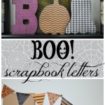 BOO Scrapbook Letters