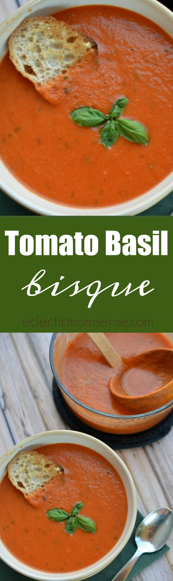 Tomato Basil Bisque | Tastes just like La Madeleine classic soup.