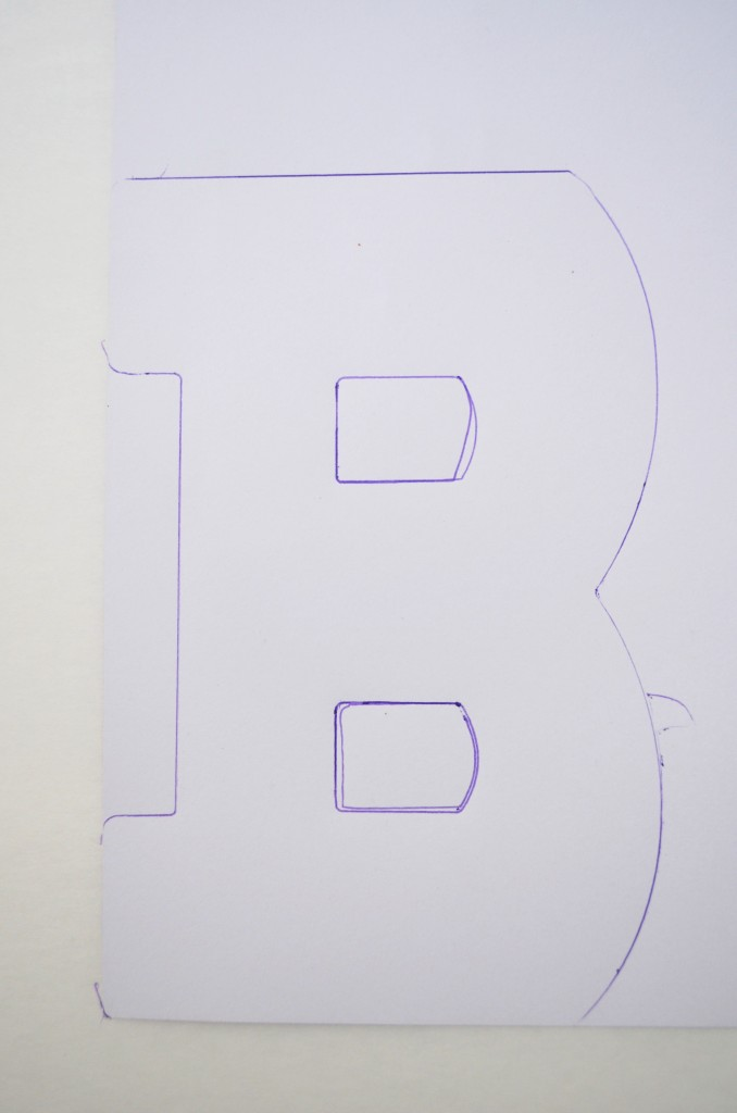 traced-letter