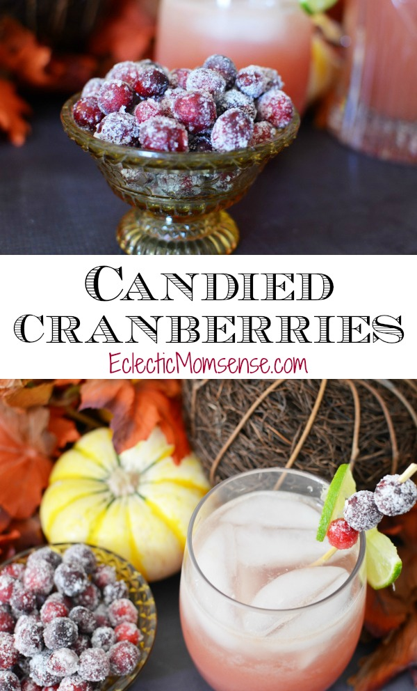 Candied Cranberries | A sparkling addition to your favorite holiday cocktails. #recipe