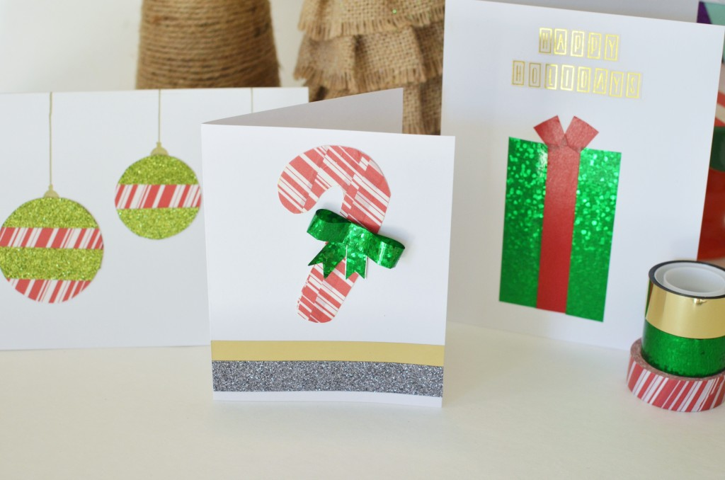 Easy DIY Cards- Create inspiring holiday cards in under an hour. #CraftAmazing AD