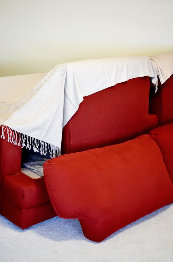 How to Build a Sofa Fort + Printable Fort Building Kit AD