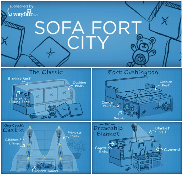 sofa fort city how to build a sofa fort printable fort building kit eclectic