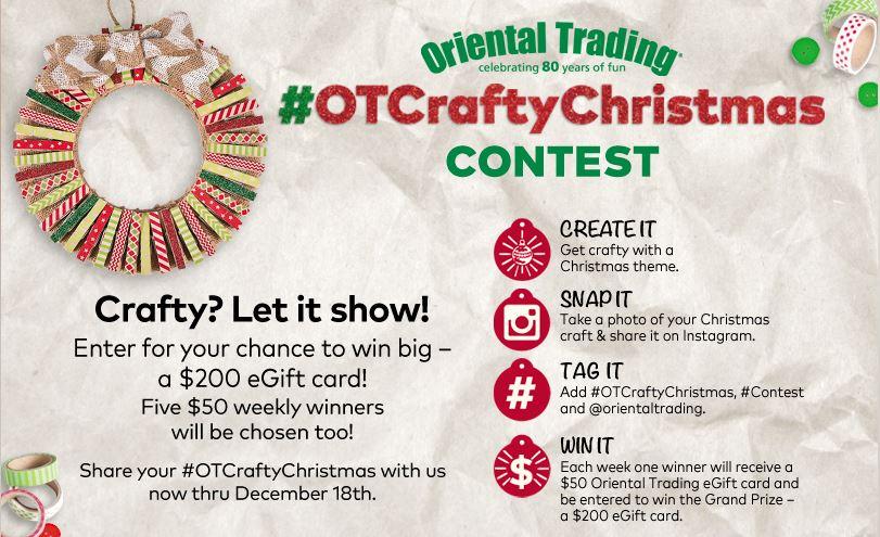#OTCraftyChristmas Instagram Contest