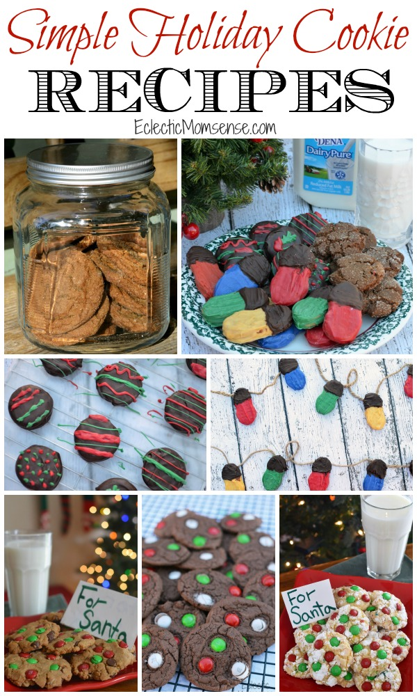 5 Simple Holiday Cookie Recipes | Perfect to enjoy with a tall glass of #dairypure milk. #pureandsimple AD
