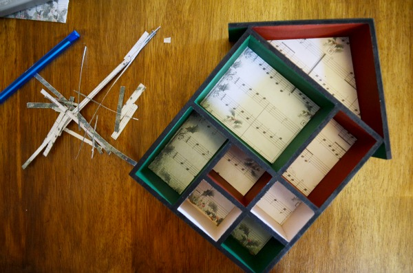 Trim your mantle with great supplies this fun DIY Holiday Shadow Box. AD @orientaltrading