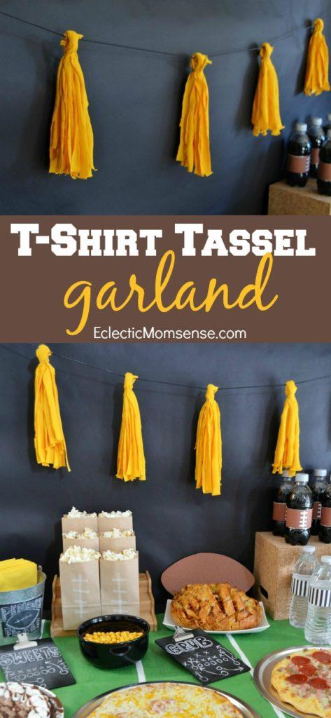 t-shirt tassel garland