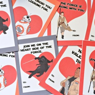 FREE Printable #StarWars The Force Awakens Valentines