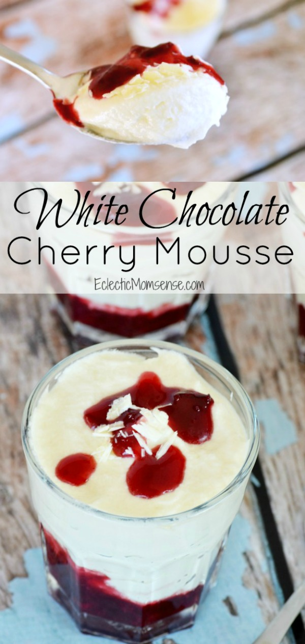 White Chocolate Cherry Mousse |