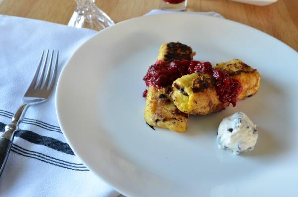 Cannoli Stuffed French Toast with Warm Raspberry Compote. #MySignatureDish -ad