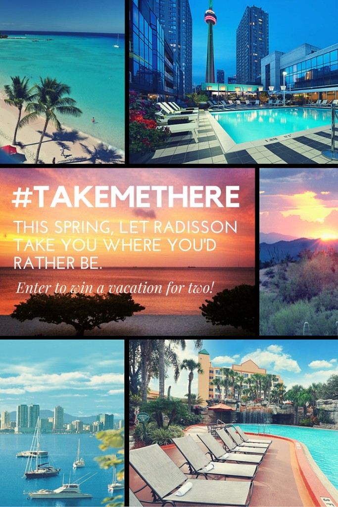 #TakeMeThere Sweepstakes | Enter to win a vacation for two plus other great prizes. | photos courtesy of Raddison