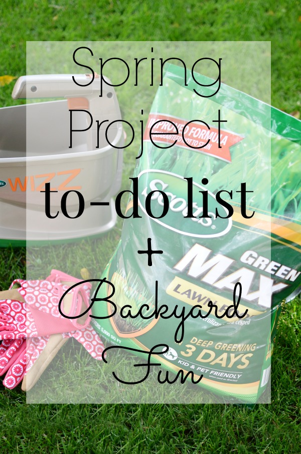 Get your backyard ready for spring with this Spring Project To Do List + a cole ideas for a little backyard fun.