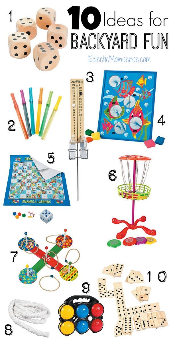 10 Backyard Lawn Games | Budget friendly lawn games for backyard fun. #OrientalTrading