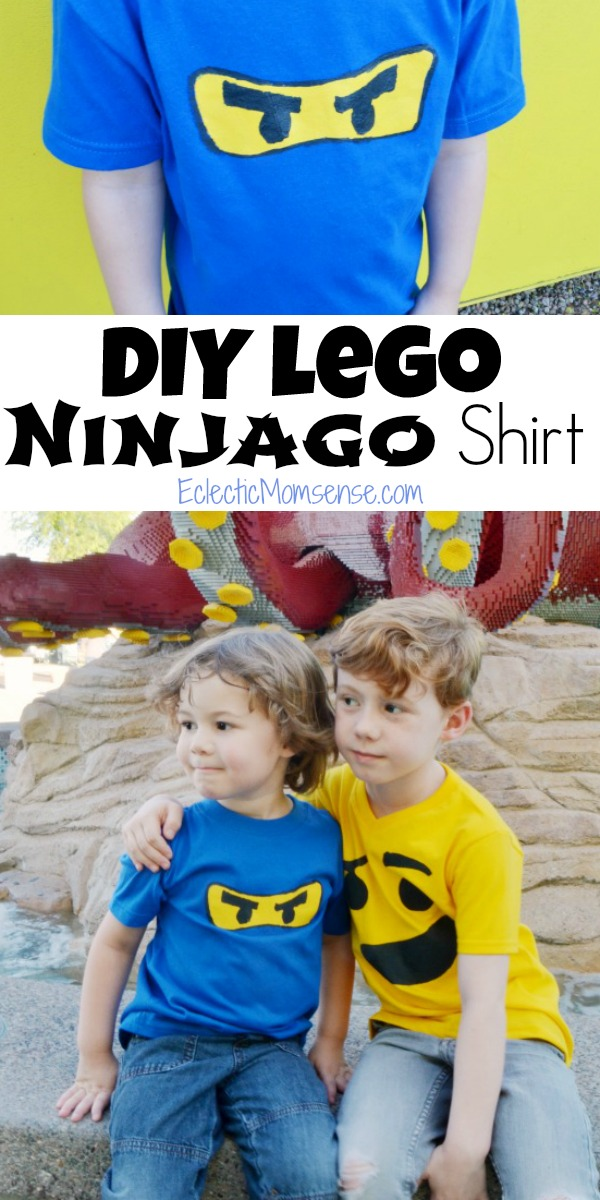 DIY LEGO Ninjago Shirt | Easy DIY freezer paper stencil shirt.