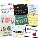 Printable Lunchbox Notes + Back to School Fashion for Boys