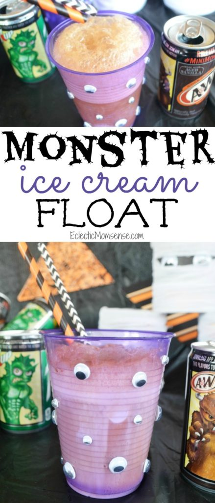 Monster Ice Cream Floats #WalmartMonsters #MiniMonsters #Walmart