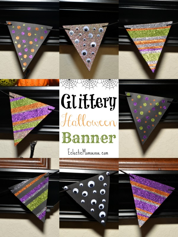 Glittery Halloween Banner + A bonus glam pumpkin tutorial! AD #HandsOnCrafty