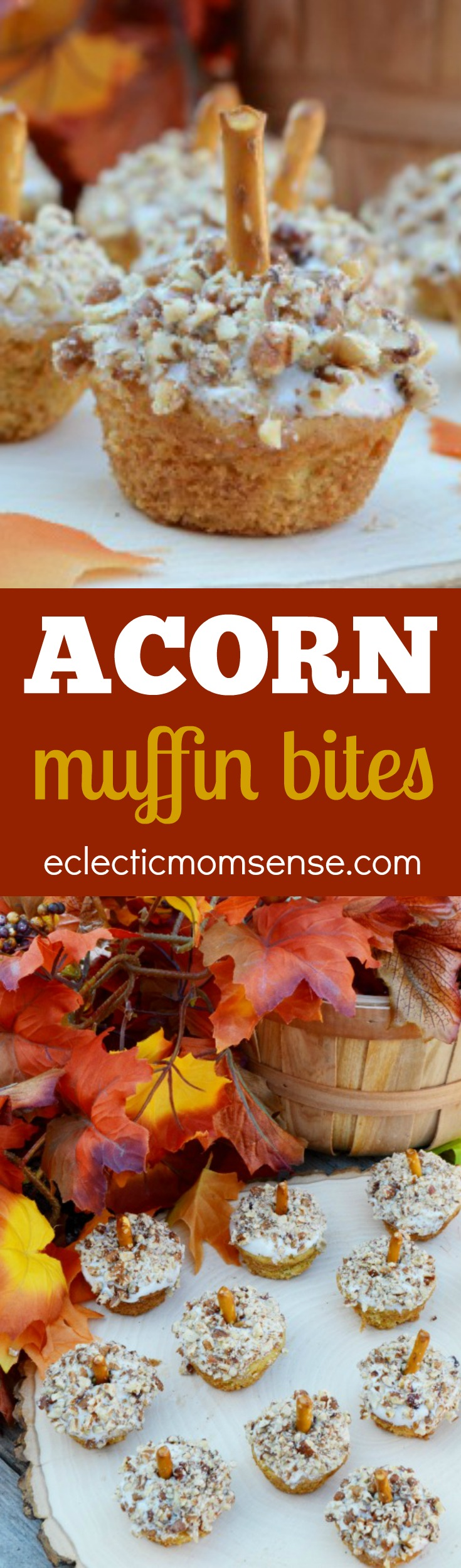 Pumpkin Spice Mini Muffins | Delicious on their own or dressed up to look like acorns for the season.