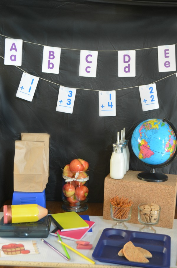Adorable Schoolhouse Party Theme. | Party tutorial plus tips for staying healthy this school year. AD #Healthy4School