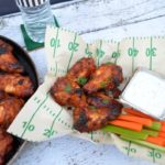 Honey BBQ Wings with Cilantro Lime Ranch Dip