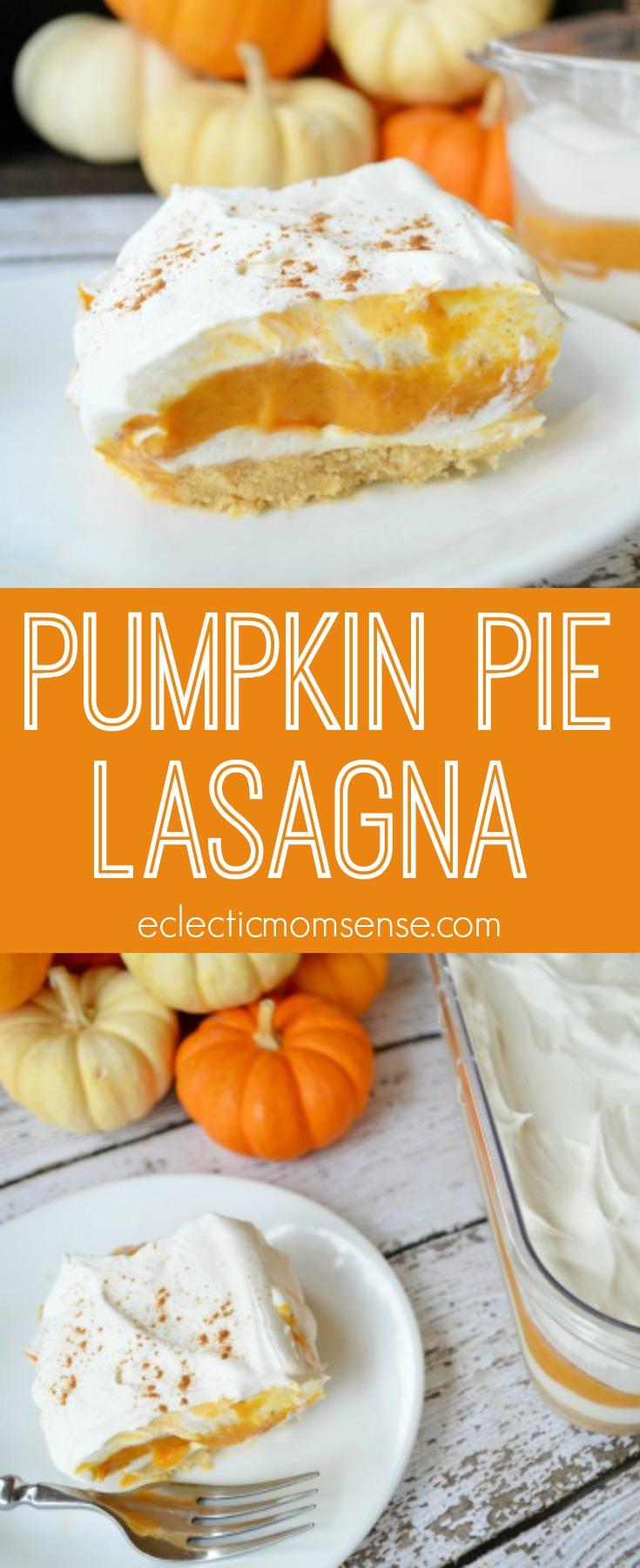Pumpkin Pie Lasagna