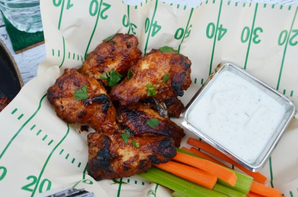Foster Farms Honey BBQ Wings with Cilantro Lime Ranch Dip recipe.