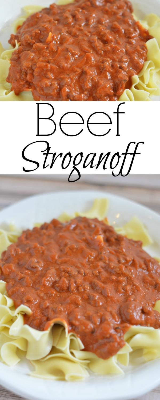 Beef Stroganoff - tomato base stroganoff