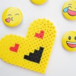 Emoji Perler Bead Heart - Fun craft project for kids (and adults) of all ages.