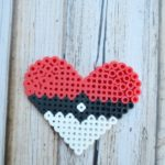 Pokemon Perler Bead Heart